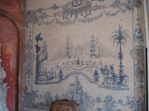 Chinoiserie wall decoration, Prince's apartments, Eszterháza