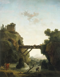 "Hubert Robert, ""Fantastic View of Tivoli,"" 1789; oil on canvas; 95 x 75"" (Saint Louis Art Museum)"