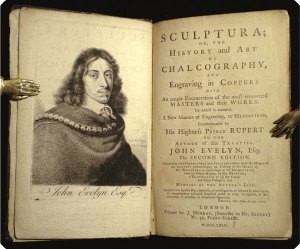 John Evelyn, Sculptura (London, 1769), reissue of the second edition from 1755. Image from the Philadelphia Rare Books & Manuscripts Company.