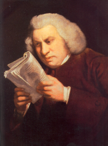 "Joshus Reynolds, ""Portrait of Samuel Johnson"" (Huntington Library)"