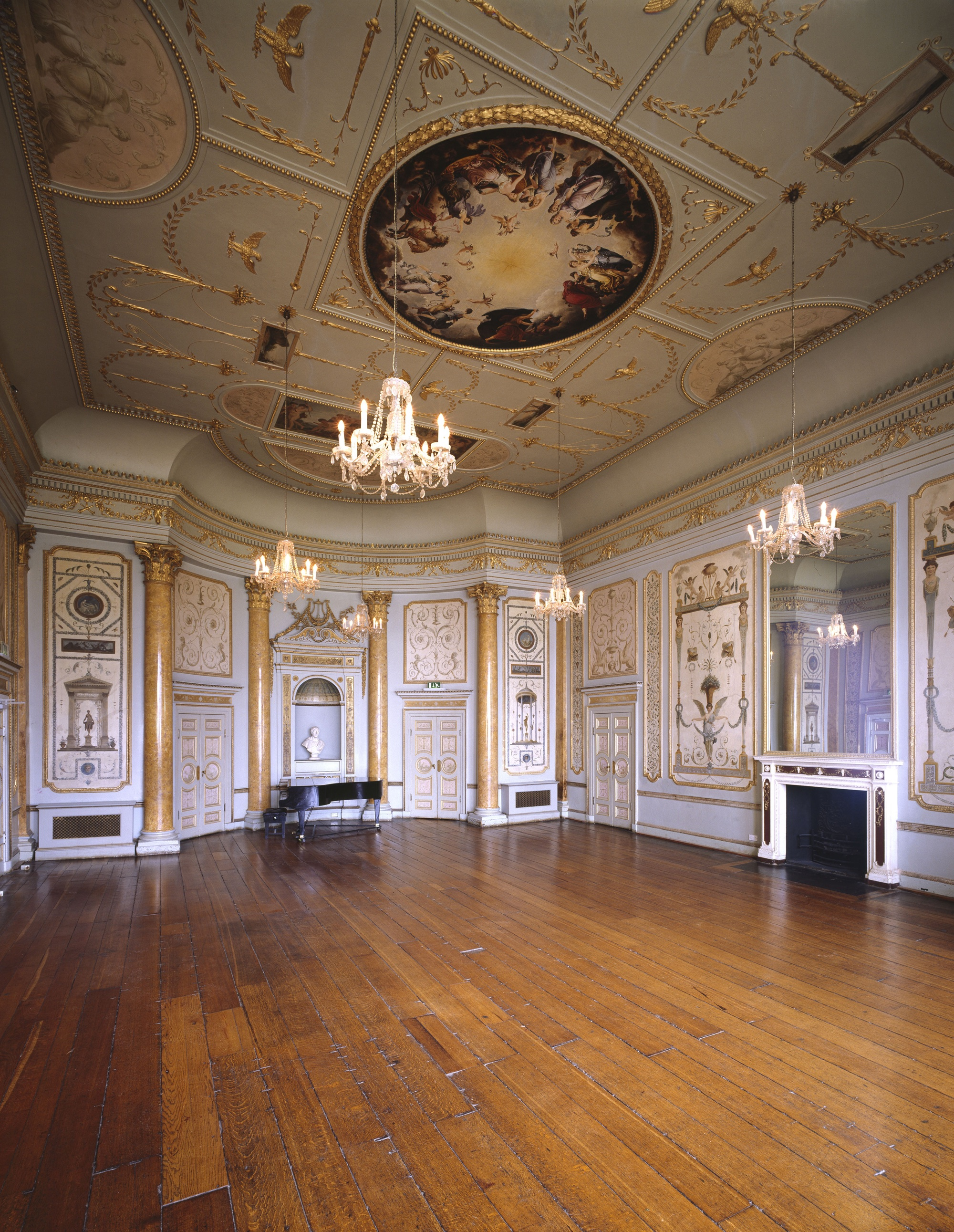State music room at stowe house to be restored enfilade for Music room in house