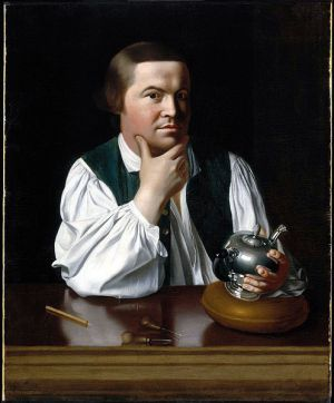 John Singleton Copley, Paul Revere, 1768. Oil on canvas, 35⅛ × 28½ in. Museum of Fine Arts, Boston, Gift of Joseph W., William B., and Edward H. R. Revere.