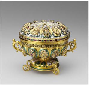 Lidded dish Kremlin workshops, 1694, © Moscow Kremlin Museums