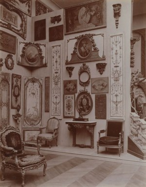 Section of the interior of 58 Boulevard Flandrin, Paris to be recreated in the Bard Graduate Center exhibition. Photographed circa 1906. The Metropolitan Museum of Art, The Thomas J. Watson Library, Presented by J. Pierpont Morgan.