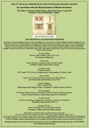Conferences to attend en lade page 13 for Furniture history society