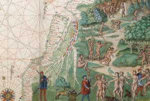 Vallard Atlas (detail), 1547. Courtesy of the Huntington Library (HM29.f12)