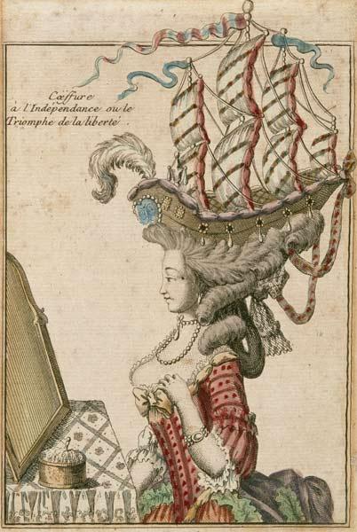 Anonymous, Coëffure à l'Indépendance ou le Triomphe de la liberté, c. 1778, Musée franco-américain du château de Blérancourt
