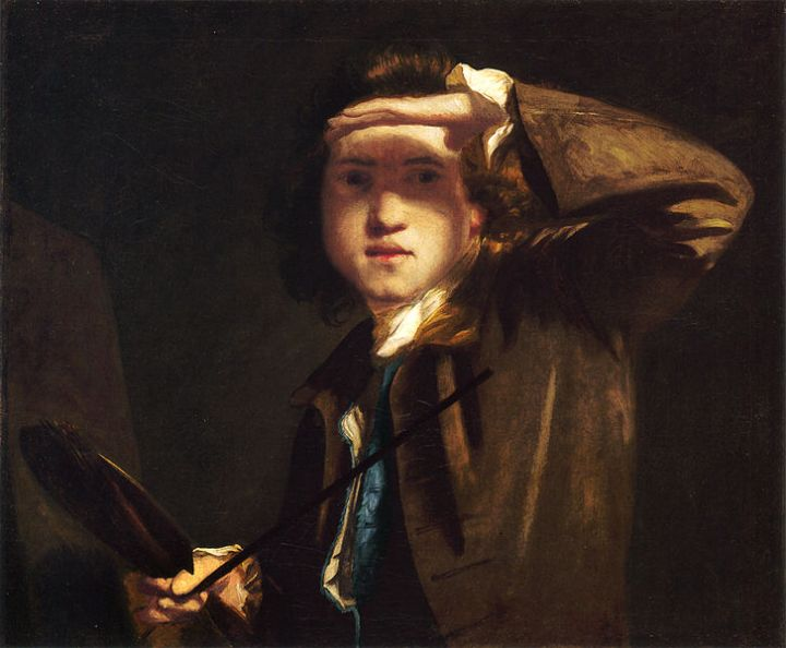 Joshua Reynolds, Self-portrait, ca.1747-49 (London: National Portrait Gallery). Image from Wikimedia Commons.