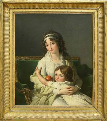 François André Vincent, Portrait presumed to be Madame Jeanne-Justine Boyer-Fonfrede and her son, Henri (Paris: Louvre)