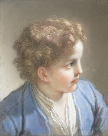 nedetto Luti (Italian, Florence 1666–1724 Rome). Study of a Boy in a Blue Jacket, 1717. Pastel and chalk on blue laid paper, laid down on paste paper. The Metropolitan Museum of Art, New York, Gwynne Andrews Fund, 2007 (2007.360)