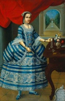 José Joaquín Bermejo (Peruvian, active circa 1760–92). Doña Mariana Belsunse y Salasar, circa 1780. Oil on canvas, 78⅛ x 50-1/16 in. (198.4 x 127.2 cm). Brooklyn Museum