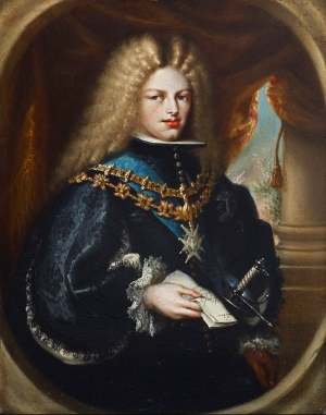 Miguel Jacinto Meléndez (Spanish, 1679–1734), Portrait of Philip V, King of Spain, c. 1701-03. Oil on copper. Meadows Museum, SMU, Dallas. Museum Purchase with funds generously provided by Richard and Gwen Irwin and The McDermott Foundation, MM.2013.04a. Photo by Michael Bodycomb