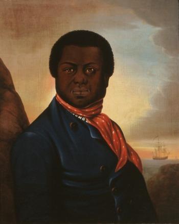 Portrait of a Black Sailor (Paul Cuffe?), circa 1800, 25 × 20 inches (LACMA)