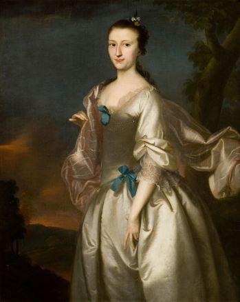 Joseph Blackburn, Portrait of Elizabeth Browne Rogers, 1761, oil on canvas (Reynolda House Museum of American Art)