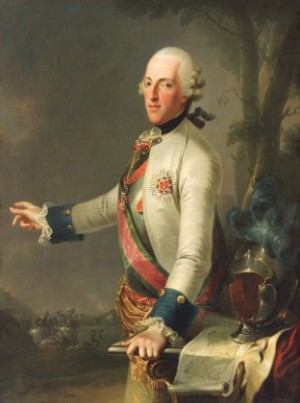 Anonymous Duke Albert of Saxe-Teschen with the Map of the Battle of Maxen, 1777 Oil on canvas Albertina, Vienna (Dauerleihgabe des Kunsthistorischen Museums Wien, Gemäldegalerie)