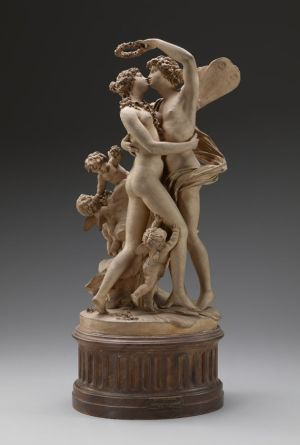 Claude Michel, called Clodion, Zephyrus and Flora, 1799, terracotta, The Frick Collection, New York, Henry Clay Frick bequest. Photo by Michael Bodycomb.