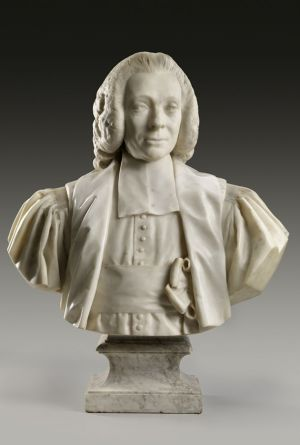 Jean-Antoine Houdon, Armand-Thomas Hue, Marquis de Miromesnil, 1777 Marble (The Frick Collection). Photo by Michael Bodycomb.