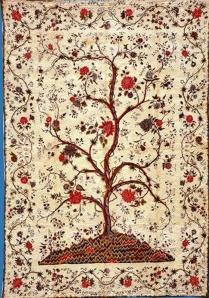Jen Jones, Welsh Quilt Centre Tree of Life (cropped, detail), c.1810