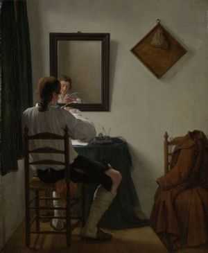 Jan Ekels (1759-1793), A writer sharpening his pen, 1784 (Amsterdam: Rijksmuseum)