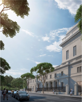 Rendering of The Frick Collection plan from 70th Street looking West, Neoscape Inc., 2014