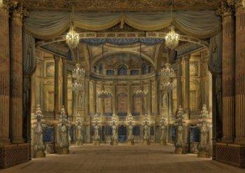 Vue de la scène de l'Opéra royal de Versailles, après les travaux de 2009. © Château de Versailles / Jean-Marc Manaï