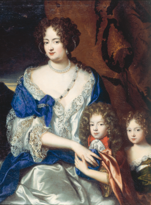 Attributed to Jacques Vaillant, Sophie Dorothea with Her Children Georg August (the future George I) and Sophie Dorothea, ca. 1690 (Residenzmuseum im Celler Schloss / Bomann-Museum Celle)