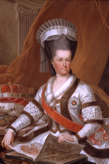 Margravine Caroline Luise of Baden (1723–1783), painting by J.W. Hauwiller