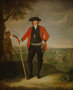 David Allan, William Inglis (ca. 1712 - 1792), Surgeon and Captain of the Honourable Company of Edinburgh Golfers (Scottish National Gallery).
