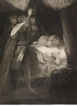 Caroline Watson (c.1760-1814), The Death of Cardinal Beaufort, stipple and etching after Sir Joshua Reynolds, 1792.