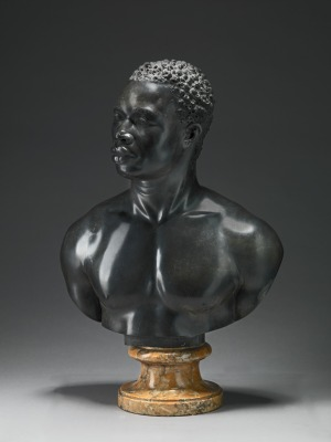 tudio of Francis Harwood, Bust of a Man, ca. 1758, black limestone on yellow marble socle, Yale Center for British Art, Paul Mellon Collection;