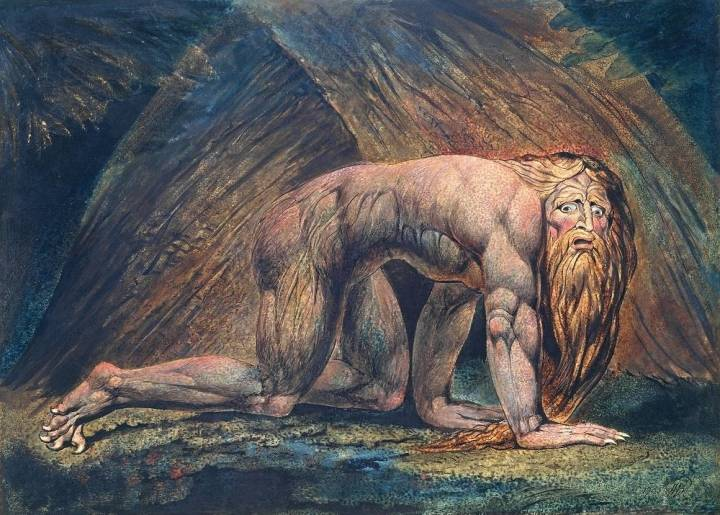 Nebuchadnezzar 1795/circa 1805 by William Blake 1757-1827