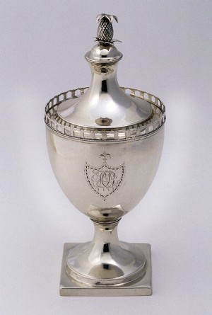 Jeremiah Andrews, Covered Sugar Bowl, silver, ca. 1791.
