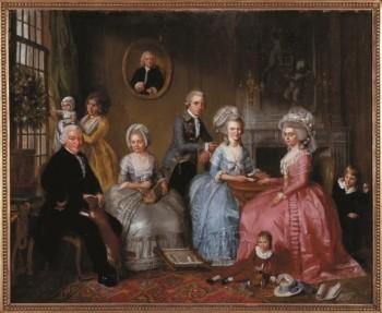Adriaan De Lelie (1755-1820), Jan van Loon and his family, 1786 Museum van Loon