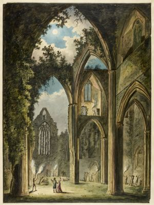 Tintern Abbey, watercolour, 1812 (London: British Library)