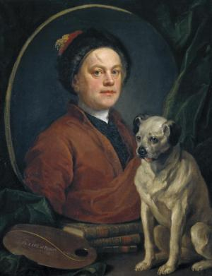 William Hogarth, The Painter and his Pug, 1745 (London: Tate, purchased 1824).