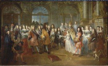 Antoine Dieu, Marriage of Louis de France, Duke of Burgundy and Marie-Adélaïde de Savoie, 7 December 1697 (Château de Versailles, MV2095)