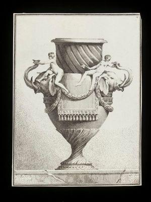 Ennemond-Alexandre Petitot, Suite de Vases (1 of 30 designs), etching by Benigno Bossi, 1770s (London: V&A)
