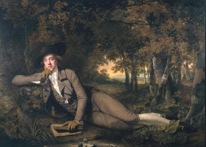 Sir Brooke Boothby 1781 by Joseph Wright of Derby 1734-1797