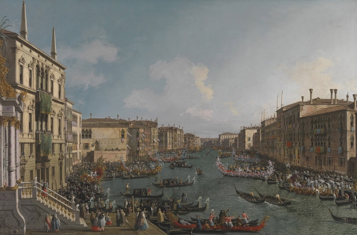 Canaletto (1697–1768) A Regatta on the Grand Canal about 1740 Oil on canvas 122.1 x 182.8 cm The National Gallery, London © The National Gallery, London