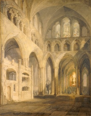 J.M.W. Turner, The Choir of Salisbury Cathedral, 1797, watercolour, 65 x 51 cm (The Salisbury Museum)