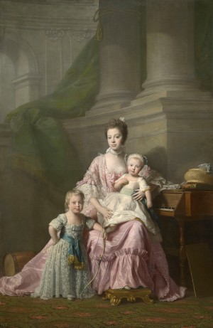 Allan Ramsay, Queen Charlotte with her two Eldest Sons, ca. 1764-69 (London: Royal Collection Trust, RCIN 404922)