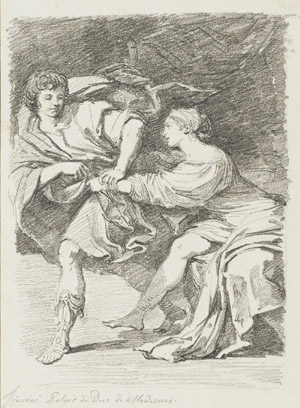 Study after Lionello Spada: Joseph and  Potiphar's Wife (from the Palazzo Ducale,  Modena) , 1760–61  17-3/4 x 13 in. (45.1 x 33.0 cm)