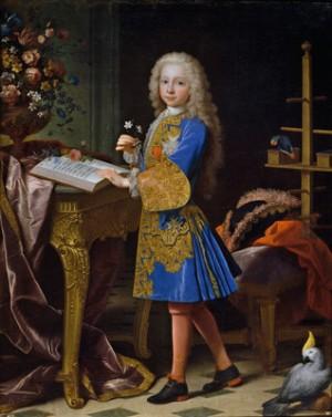 Jean Ranc Carlos de Borbón y Farnesio, niño (futuro Carlos III de España), hacia 1724. Óleo sobre lienzo. 145.5x116.5cm (Madrid: Prado)