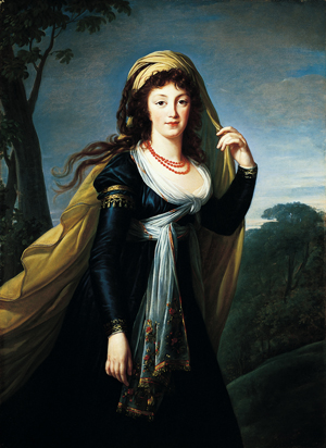 Portrait of Theresa, Countess Kinsky,1793 Marie-Louise-Elisabeth Vigée-Lebrun French, 1755-1842 Oil on canvas 54-1/8 x 39-3/8 in. (137.5 x 100.0 cm) Norton Simon Art Foundation