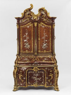 Writing cabinet, 1750s, possibly by Michael Kimmel, or Kümmel (1715-1794) a cabinet-maker in Dresden (London: V&A, Purchased by H.M. Government from the estate of the 6th Earl of Rosebery and allocated to the Victoria and Albert Museum, W.63-1977)