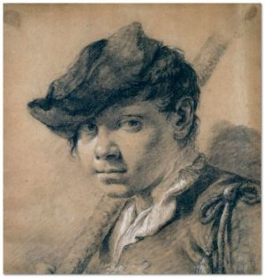 Giovanni Battista Piazzetta (1682‒1754), Head of a Youth, black and white chalks on brownish paper, 31.5 x 29.9 cm (Ashmolean Museum, University of Oxford)