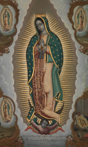 Nicolás Enríquez, The Virgin of Guadalupe with the Four Apparitions (detail), 1773, oil on copper, 56.5 x 41.9 cm (New York: The Metropolitan Museum of Art, New York, 2014.173)