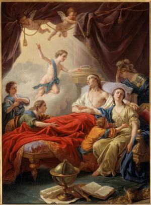 Louis Jean François Lagrenée, Le Dauphin mourant entouré de sa famille (Château de Fontainebleau)