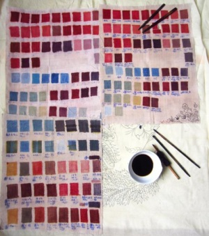 Color swatches. © RedTree Textile Studio