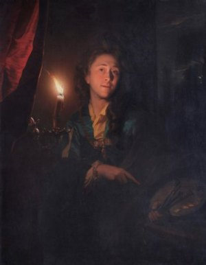 Godefridus Schalcken, Self-Portrait, 1694 (Leamington Spa Art Gallery and Museum)
